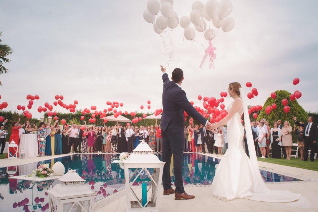 lancer de ballon mariage boheme