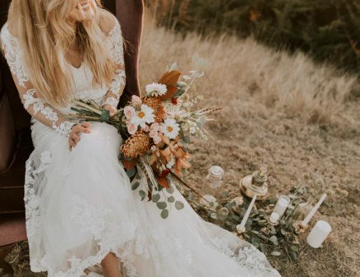 Robe de mariée champêtre et robe de mariée bohème comment les porter